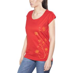 Elkline Freilich Bluzka z krótkim rękawem Kobiety czerwony